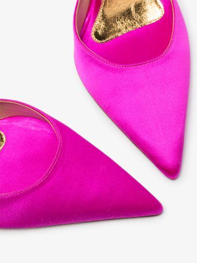 pink Lena 100 slingback pumps