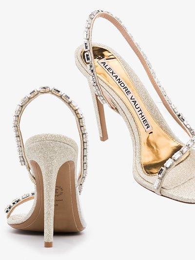 Silver Elizabeth 100 embellished Leather Sandals