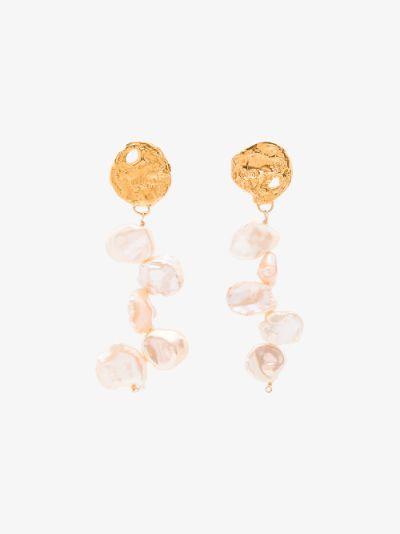gold-plated La Jetee pearl earrings