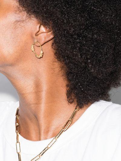 gold-plated Unreal City hoop earrings