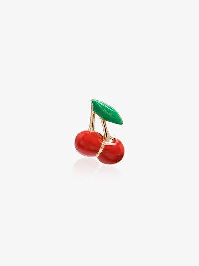 14K yellow Gold Cherry Earring