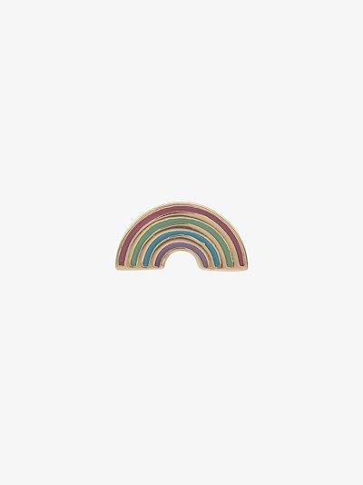 14K yellow gold rainbow earring