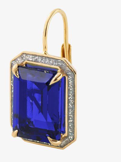 14K yellow gold sapphire drop earrings