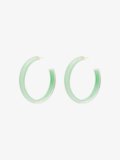 green Loucite medium jelly hoop earrings