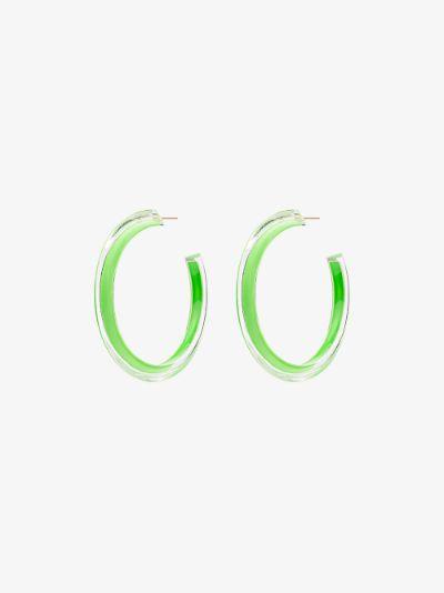 green Loucite small jelly hoop earrings