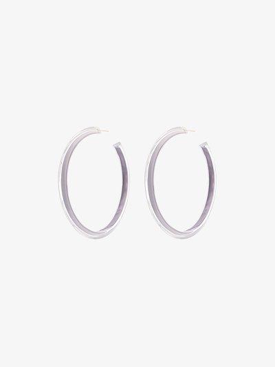 grey large Jelly hoop earrings