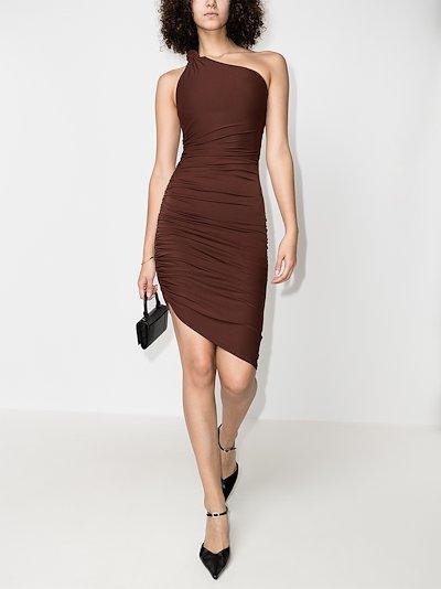 Celeste ruched knot sleeve dress