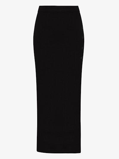 Fordham buttoned column skirt