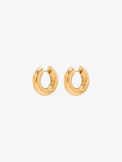 gold vermeil Almost hinged hoop earrings