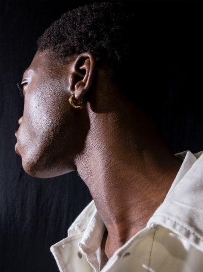 gold vermeil Almost hoop earring