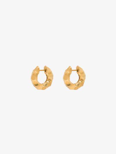 gold vermeil Almost hoop earrings