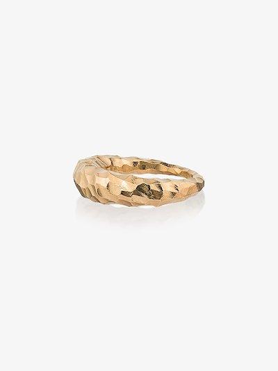 Gold Vermeil Carved Fat Snake Ring