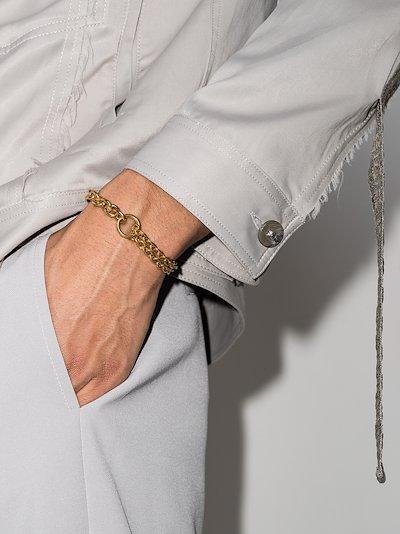 gold vermeil Double chain bracelet