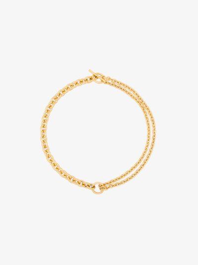 gold vermeil double necklace