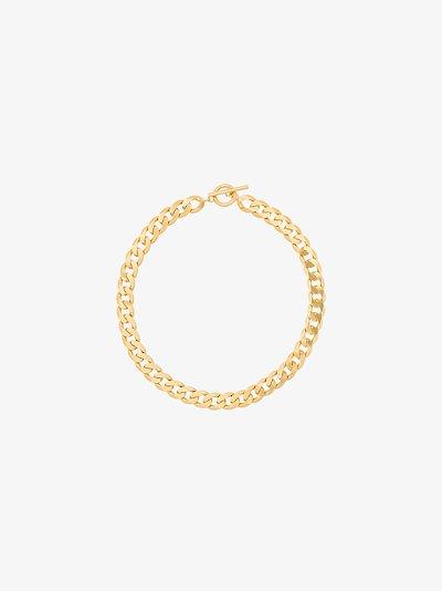 gold vermeil moto chain link necklace