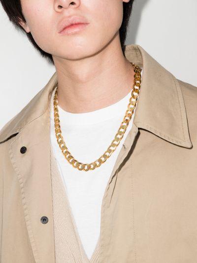 gold vermeil Moto chain necklace