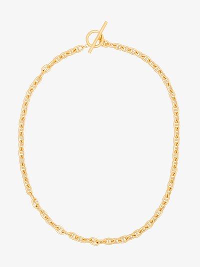 gold vermeil pill necklace