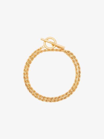 gold vermeil rope bracelet