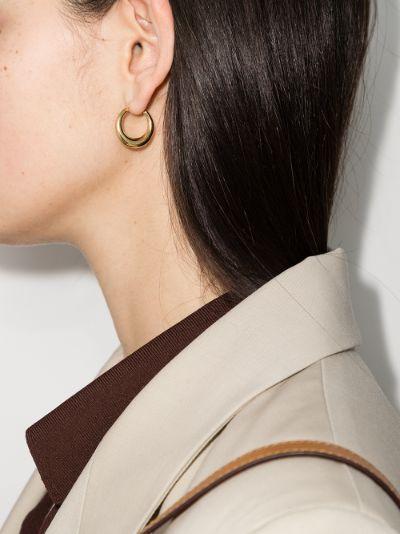 gold vermeil Snake small thick hoop earrings