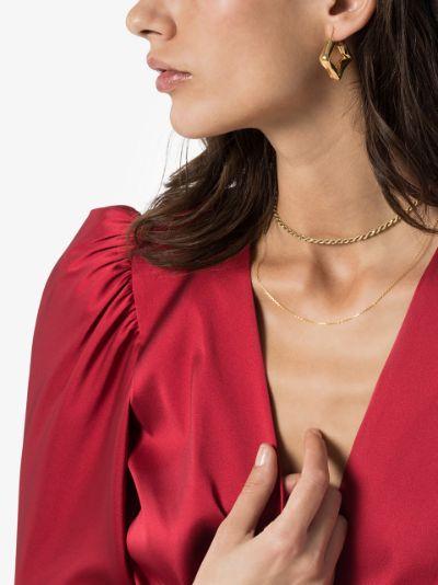 gold vermeil Straw earrings