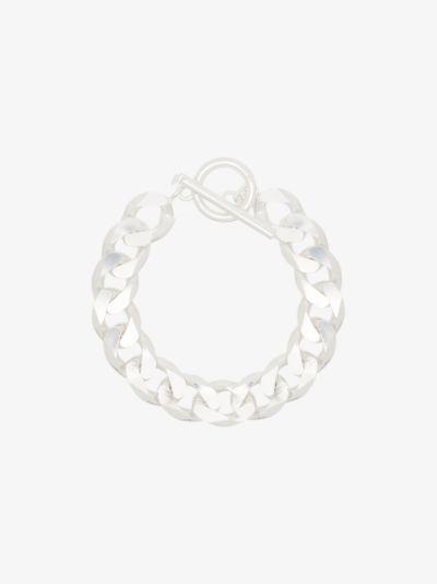 sterling silver moto bracelet