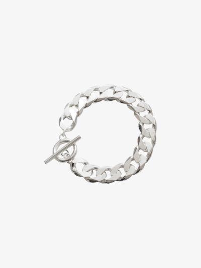 sterling silver moto chain bracelet