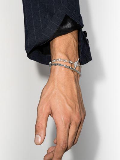 sterling silver Snake thin bracelet