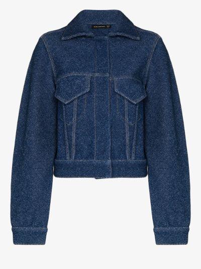 denim effect jacket