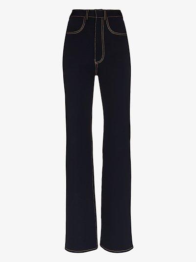 high waist jersey jeans
