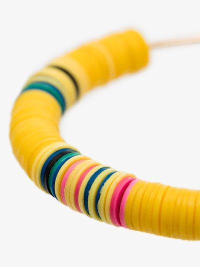 gold-plated Heishi beaded hoop earrings