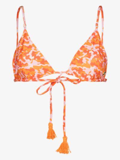 Gigi camouflage print bikini top