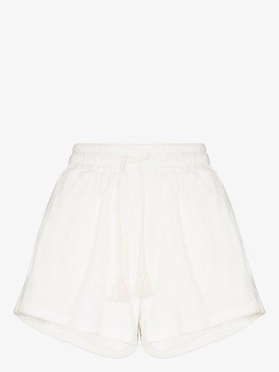 Nood drawstring terry cotton shorts