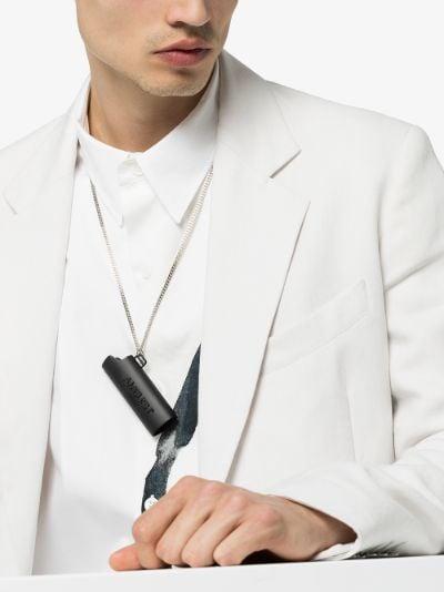 black large Lighter case necklace