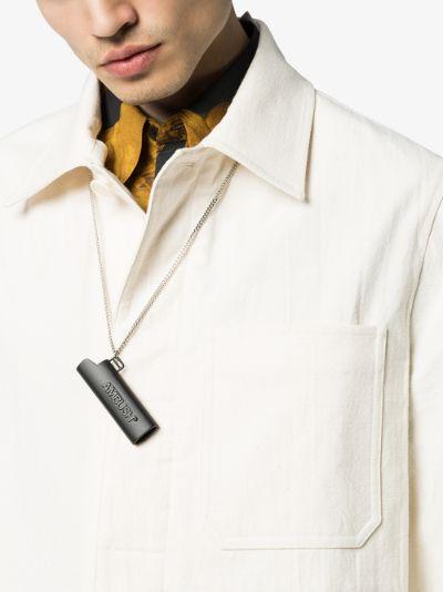 black lighter case necklace