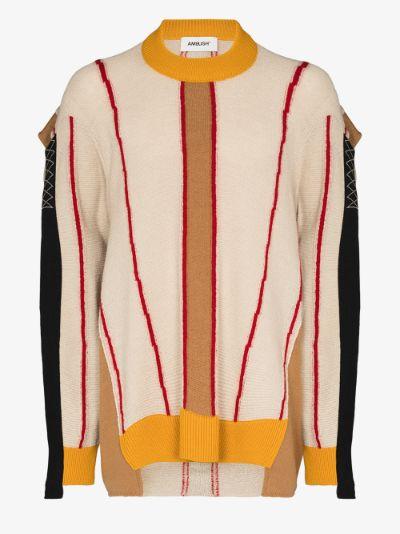 Colour Block wool sweater