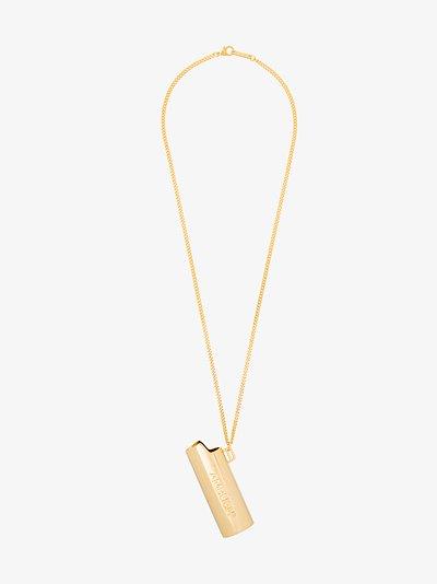 gold tone large Lighter necklace