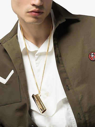 gold tone Lighter case necklace