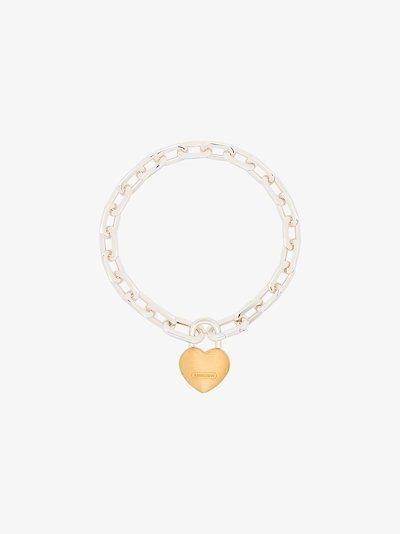 Sterling silver heart lock bracelet