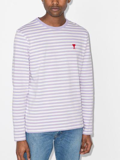 Ami de Coeur Striped Long Sleeve T-shirt