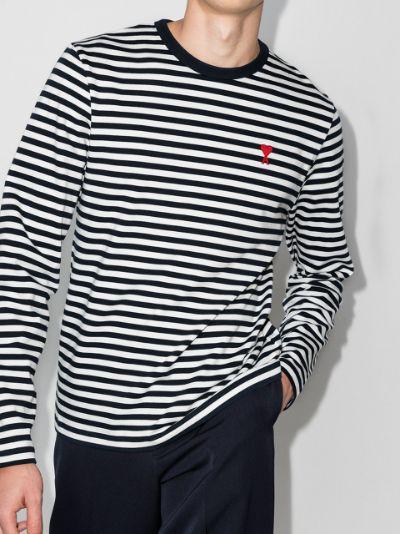 Ami de Coeur striped longsleeve T-shirt