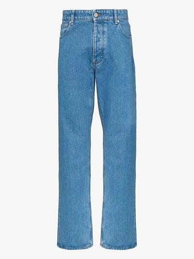 five pocket straight jeans