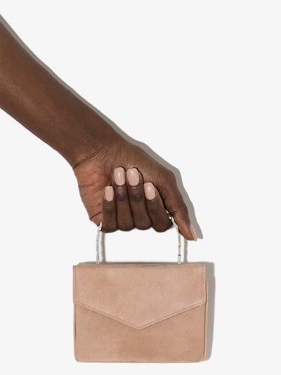 neutral Pernille Super Mini suede super bag