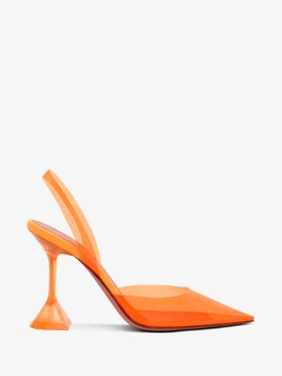Orange Holli 95 PVC Slingback Pumps