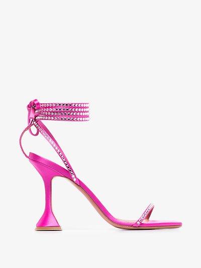 pink Vita 95 ankle tie sandals