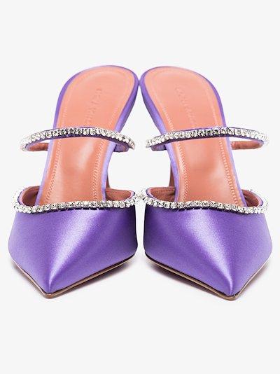 Purple Gilda 95 crystal satin pumps