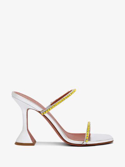 Silver Gilda 95 Crystal leather sandals