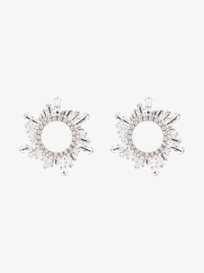 silver tone Begum large crystal earrings