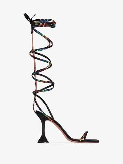 X AWGE black LSD 95 gladiator wrap sandals