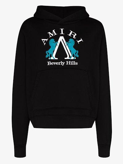 Beverly Hills logo cotton hoodie
