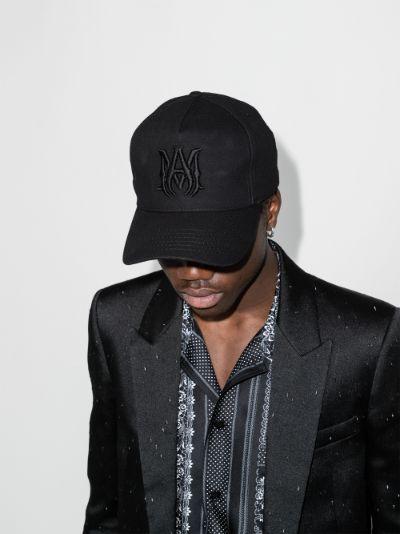 Black embroidered logo cap